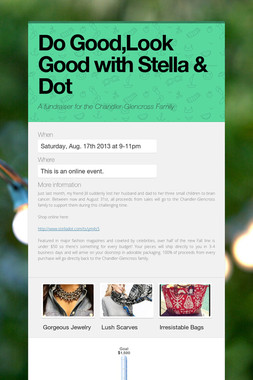 Do Good,Look Good with Stella & Dot