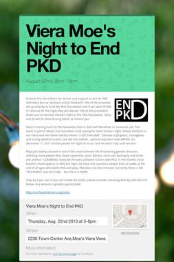 Viera Moe's Night to End PKD