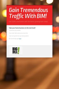 Gain Tremendous Traffic With BIM!