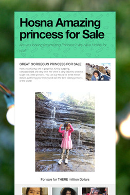 Hosna Amazing princess for Sale