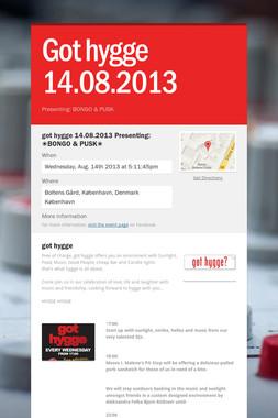 Got hygge 14.08.2013