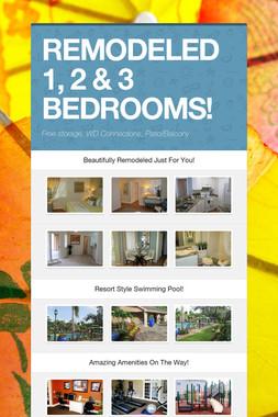 REMODELED 1, 2 & 3 BEDROOMS!