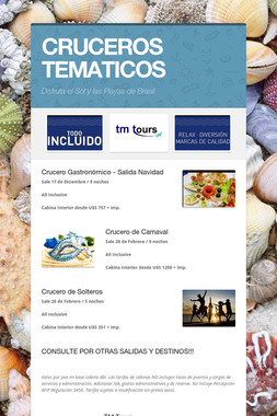 CRUCEROS TEMATICOS