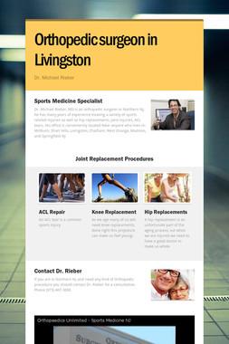 Orthopedic surgeon in Livingston