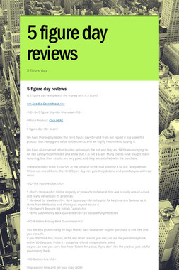 5 figure day reviews