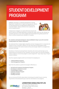STUDENT DEVELOPMENT PROGRAM