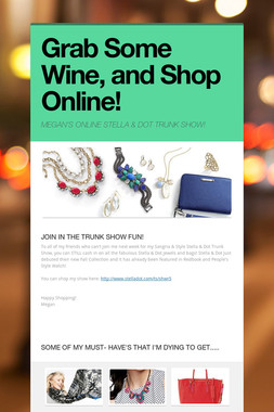 Grab Some Wine, and Shop Online!