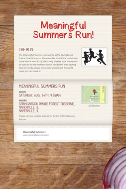Meaningful Summers Run!