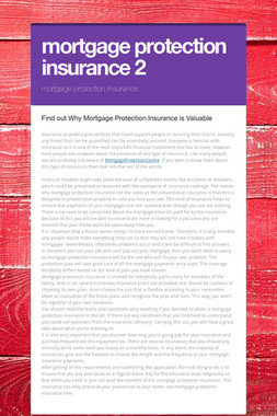 mortgage protection insurance 2