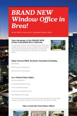 BRAND NEW Window Office in Brea!
