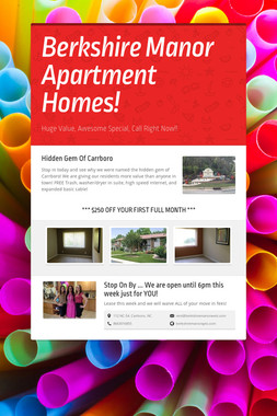 Berkshire Manor Apartment Homes!