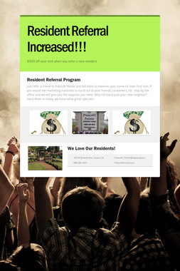 Resident Referral Increased!!!