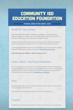 Community ISD Education Foundation
