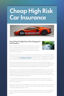Cheap High Risk Car Insurance