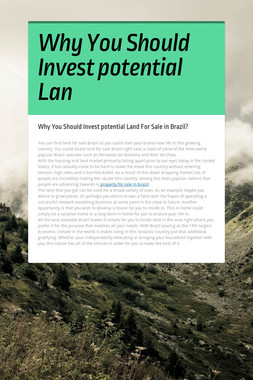 Why You Should Invest potential Lan