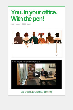 You. In your office. With the pen!