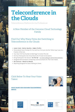 Teleconference in the Clouds