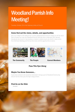 Woodland Parrish Info Meeting!