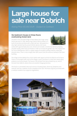 Large house for sale near Dobrich
