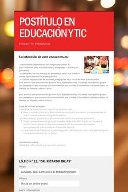 POSTÍTULO EN EDUCACIÓN Y TIC