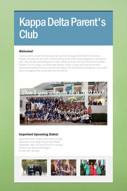 Kappa Delta Parent's Club
