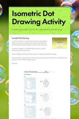 Isometric Dot Drawing Activity