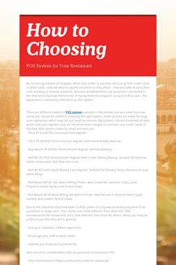 How to Choosing