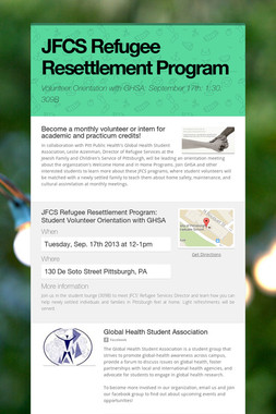 JFCS Refugee Resettlement Program