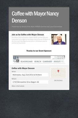 Coffee with Mayor Nancy Denson