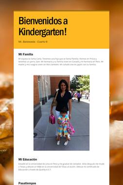 Bienvenidos a Kindergarten!