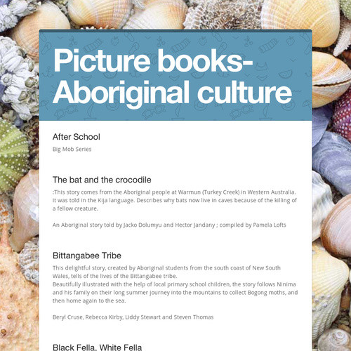 Picture books- Aboriginal culture