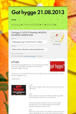 Got hygge 21.08.2013 …