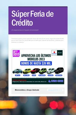 Súper Feria de Crédito