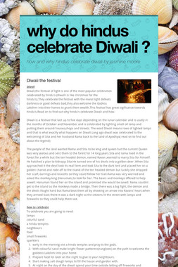 why do hindus celebrate Diwali ?