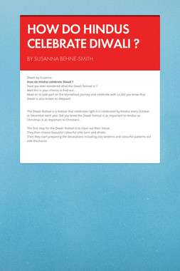 HOW DO HINDUS CELEBRATE DIWALI ?