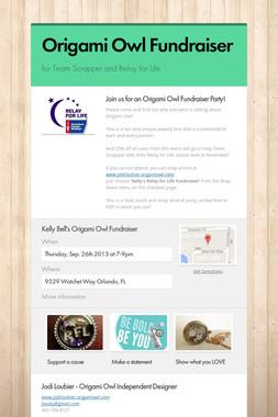 Origami Owl Fundraiser