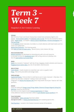 Term 3 - Week 7