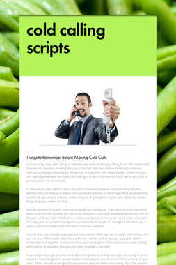 cold calling scripts