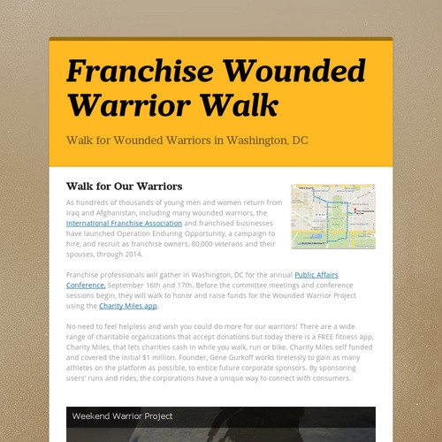 Franchise Wounded Warrior Walk