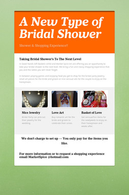 A New Type of Bridal Shower