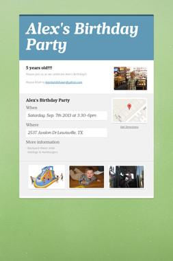 Alex's Birthday Party