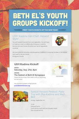 Beth El's Youth Groups Kickoff!