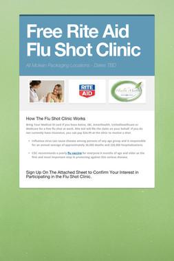 Free Rite Aid Flu Shot Clinic