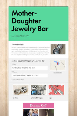 Mother-Daughter Jewelry Bar