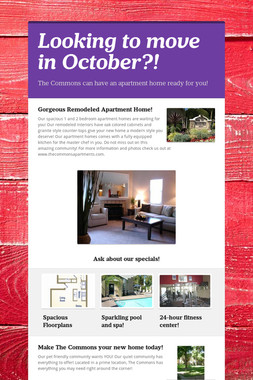 Looking to move in October?!