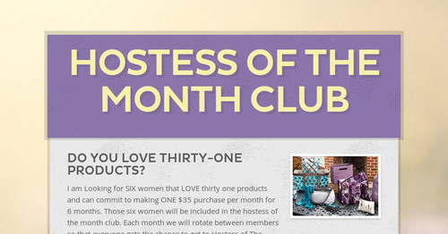 hostess of the month club