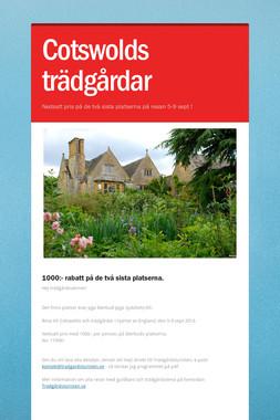 Cotswolds trädgårdar