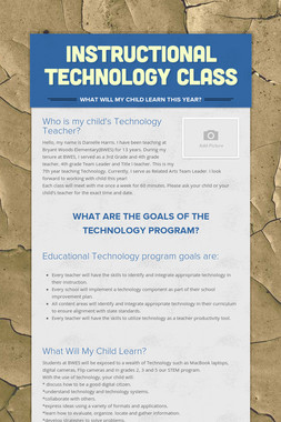 Instructional Technology Class