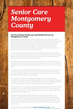 Senior Care Montgomery County