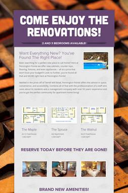 Come Enjoy the Renovations!